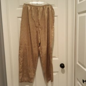 Other - Silky pajama bottoms plus size 1X golden PJ's